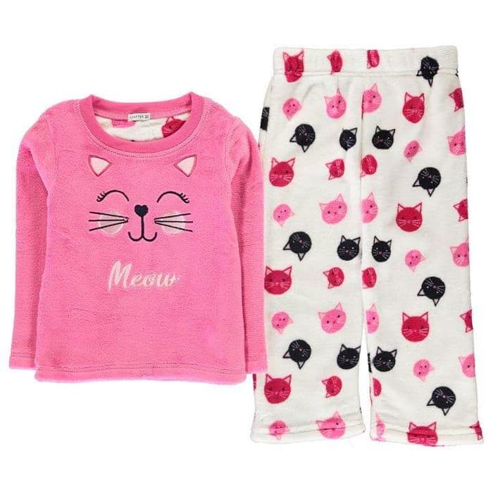 Crafted Essentials Cuddle Fleece Pyjama Set Infants save £4.99
