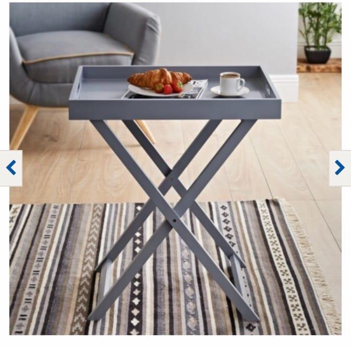 Bjorn Wide Tray Table - Grey