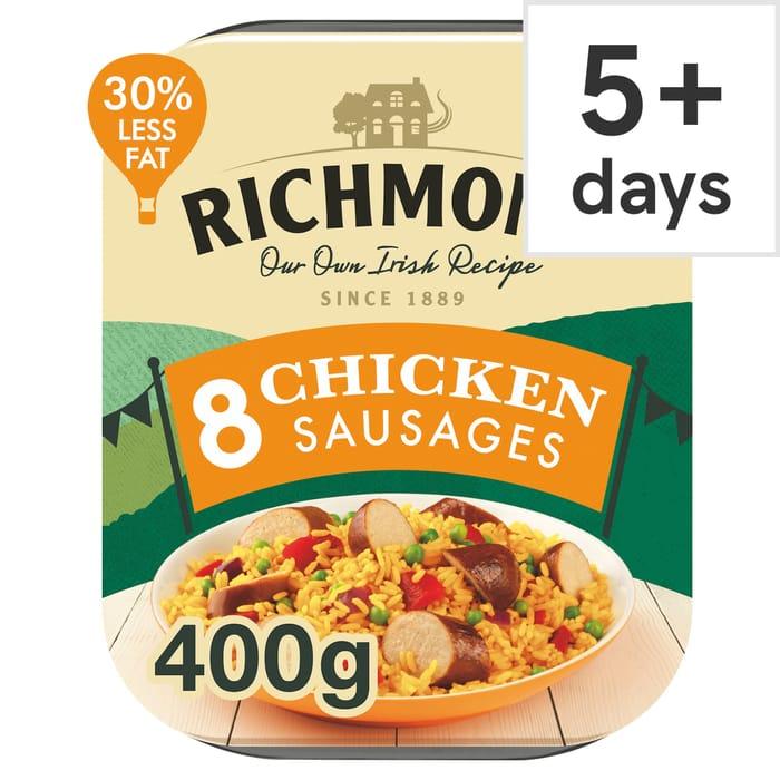 Richmond Chicken Sausages 400G for 95p!