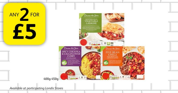 Discover the Choice Ready Meal Any 2 for a £5