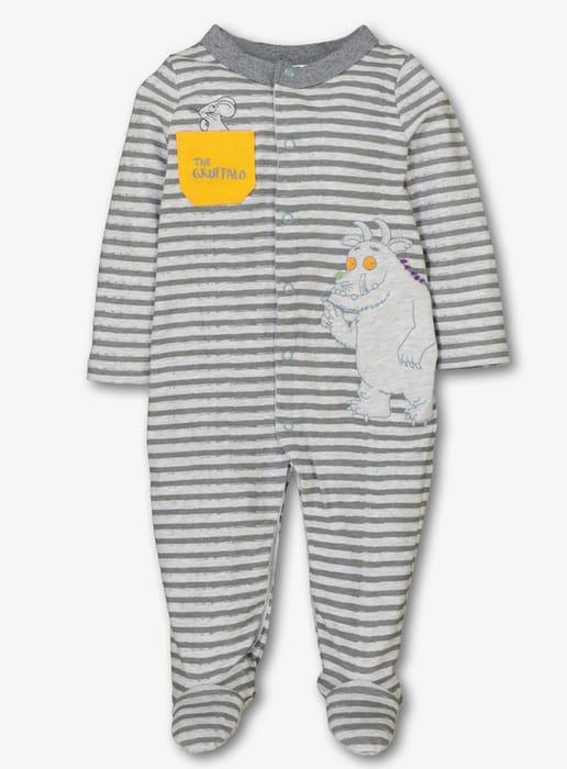 Gruffalo Grey Stripe Sleepsuit (0-24 Months)