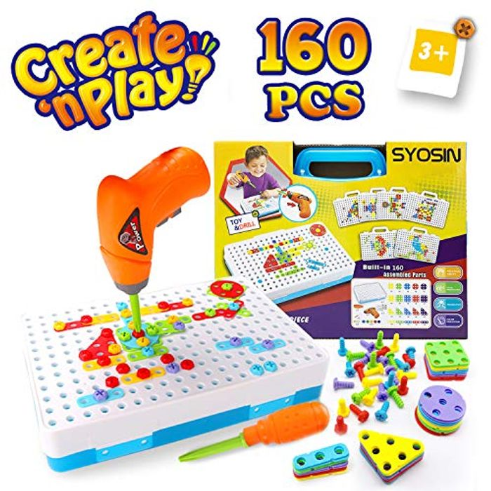 Construction Toys Drill for Children - Creative Puzzle Educational Toys Tool Kit