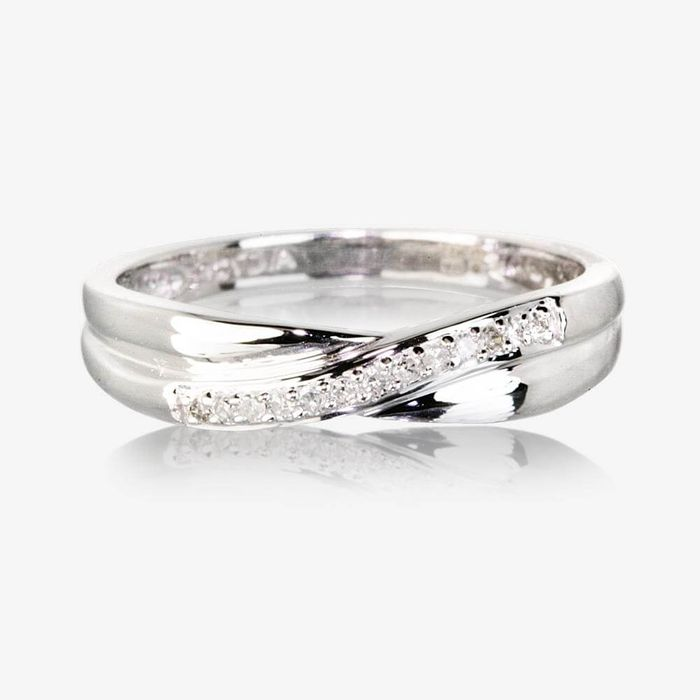 Cheap 9ct White Gold Diamond Eternity Ring - Save £81