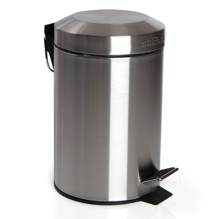 Sabichi 3L Stainless Steel Small Pedal Bin Silver