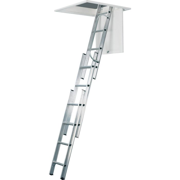 330 Werner Aluminium Loft Ladder 3 Section+all Fixings