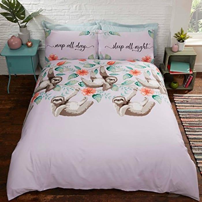 Rapport Cute Sloths Novelty Duvet Cover Bed Set