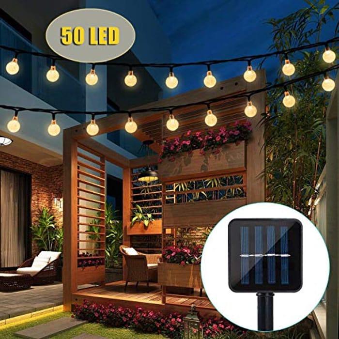Lightning Deal Solar String Lights, 50 LED Outdoor String Lights
