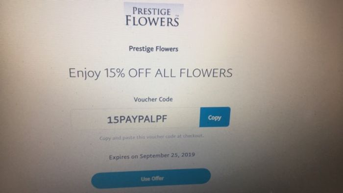 Enjoy 15% off ALL FLOWERS