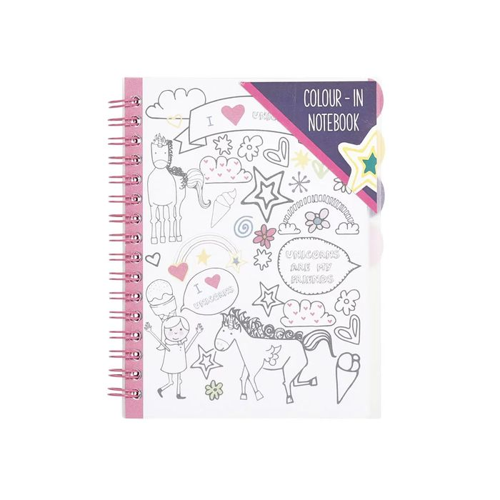 save £0.75 Rollover to Zoom Wilko Unicorns A6 Colour in Notebook