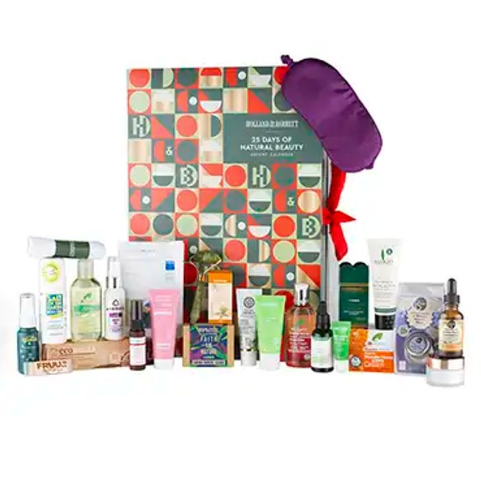 25 Days of Natural Beauty Advent Calendar £31.50 with Code (Worth £146)
