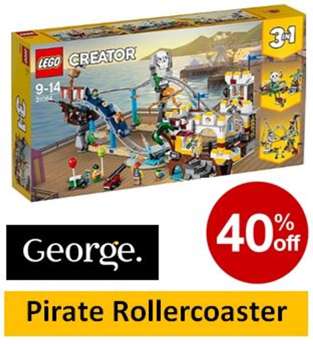 SAVE £28 - LEGO 31084 CREATOR Pirate Rollercoaster
