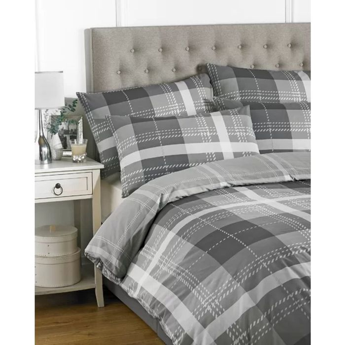 Cheap Club House Check Duvet Cover Set on Sale From £45 to £17.99