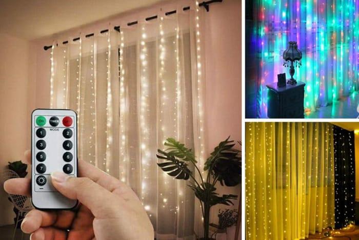 LED Remote Control Curtains - 3 Colour Options & 2 Sizes!