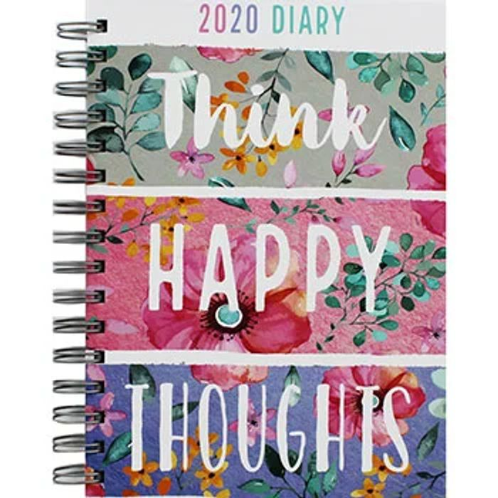 70% off A5 Think Happy 2020 Day a Page Diary