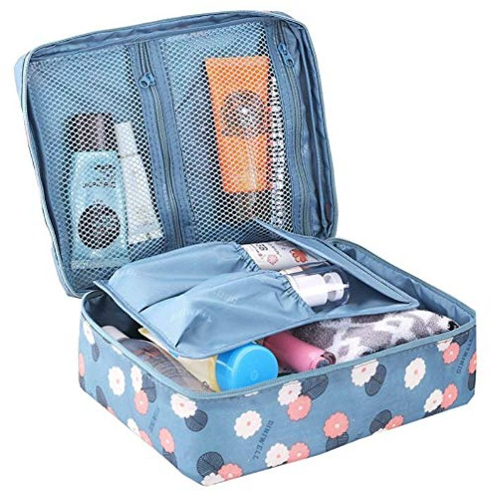Beauty Case Makeup Bag (Blue)