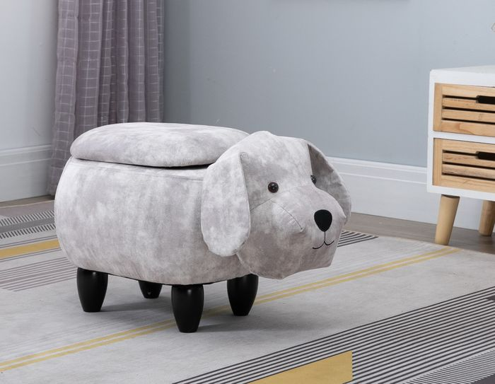 Poodle Dog Storage Stool