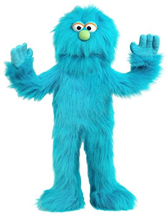 Blue Monster Puppet, Full Body Ventriloquist Style Puppet, 70cm