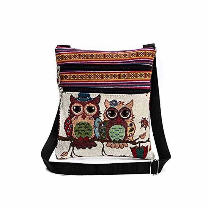 Best Price Gaddrt Women Girl Cute Embroidered Owl Tote Bags Handbag