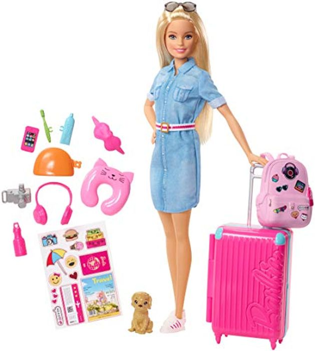 BarbieDoll and Travel Set with Puppy