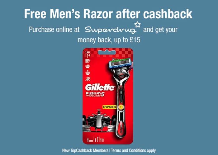 Free Gillette Fusion 5 Mens Razor!