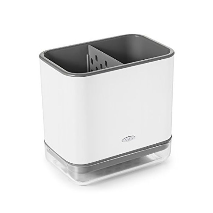 OXO Good Grips Plastic Sink Ware Caddy, White, 14.8 X 9.9 X 14.2 Cm