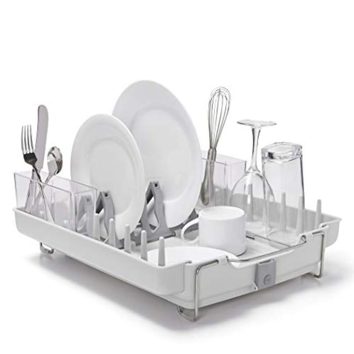 OXO Good Grips Foldaway Dish Rack - Grey