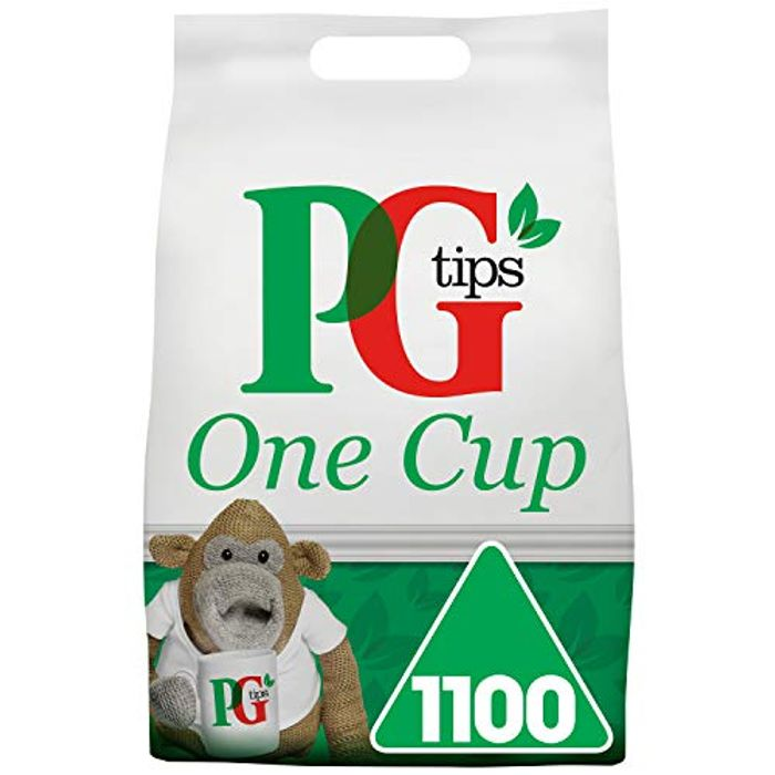 PG Tips One Cup Pyramid Tea Bags (Pack of 1, Total 1100 Tea Bags)