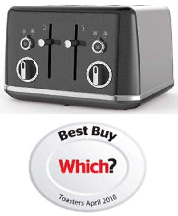 SAVE £20 - Breville Lustra Storm 4 Slice Toaster - FREE DELIVERY