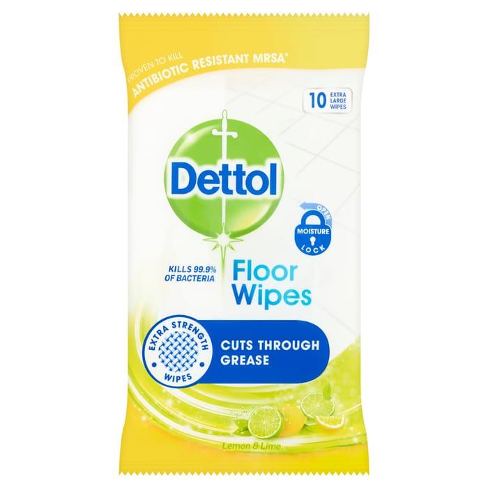 Dettol Floor Wipes Lemon & Lime 10S