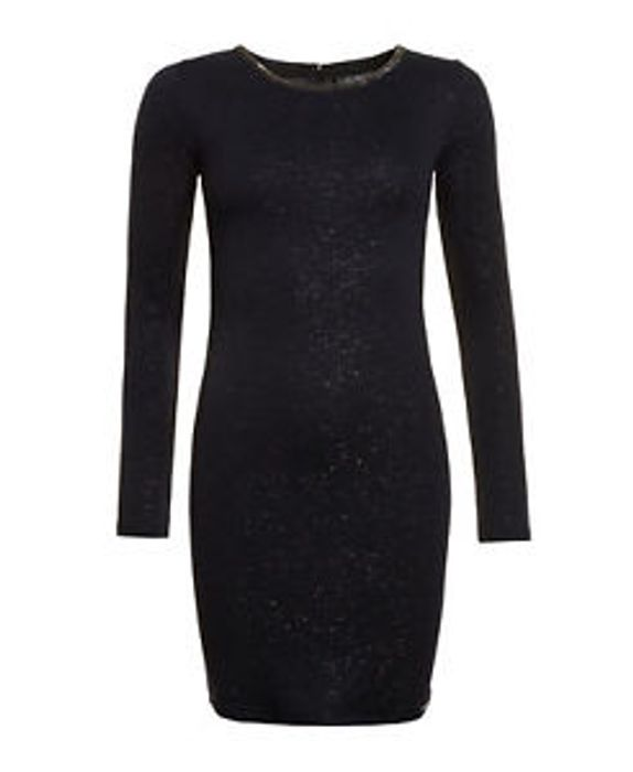 Womens Superdry Factory Second Welbeck Foil Dress Midnight Sky Navy Foil (Small)