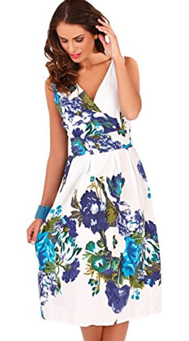 100% Cotton Strappy Sleeveless Summer Sun Dress, Sizes S & M FREE DELIVERY