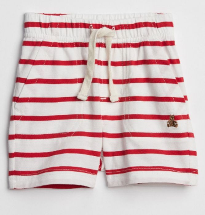 GAP Baby Stripe Utility Pull-on Shorts Now £1.99