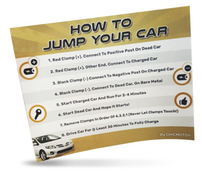 """Free """"How to Jump Start Your Car"""" Sticker"""