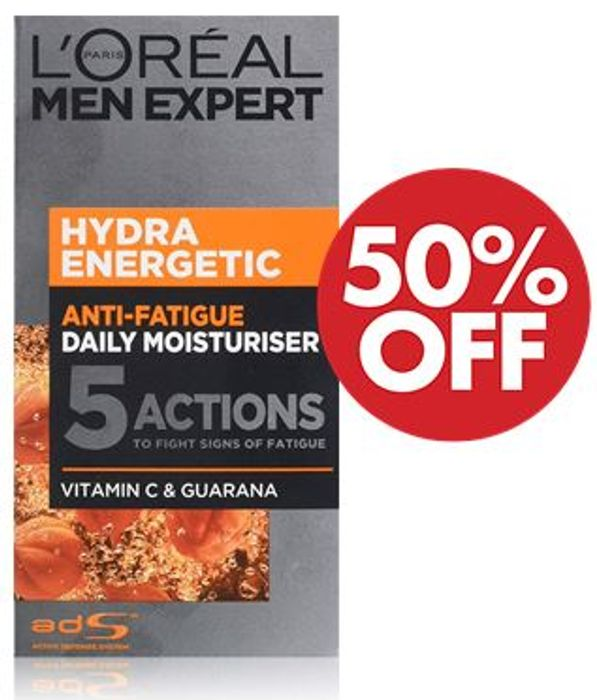 1/2 PRICE - L'OREAL MEN EXPERT Moisturiser 50ml