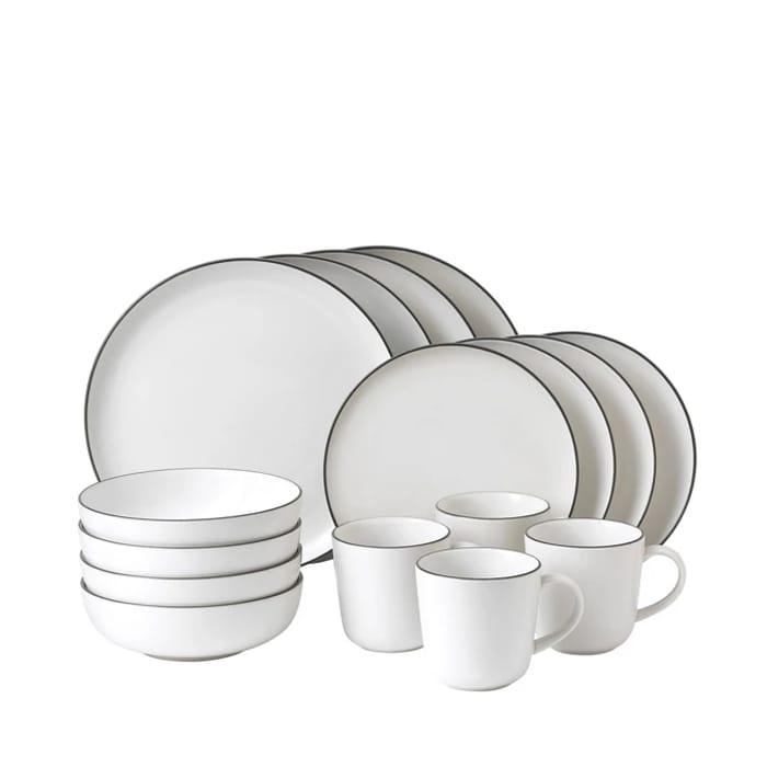 Royal Doulton - White Earthenware 16 Piece 'Bread Street' Tableware Set
