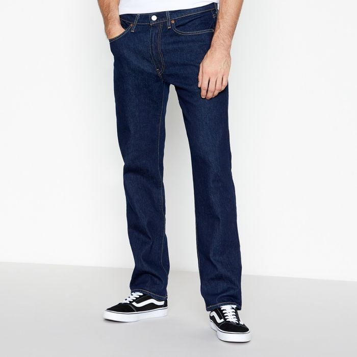 Levi's - Navy Rinse Wash '514 Chain' Straight Fit Jeans