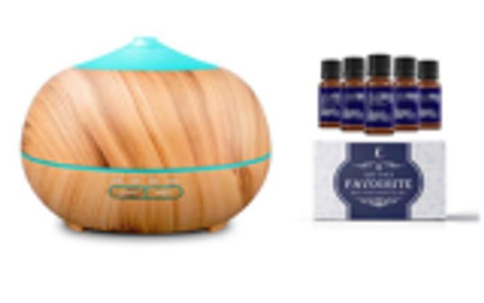 Win a Wood Grain Essential Oil Diffuser