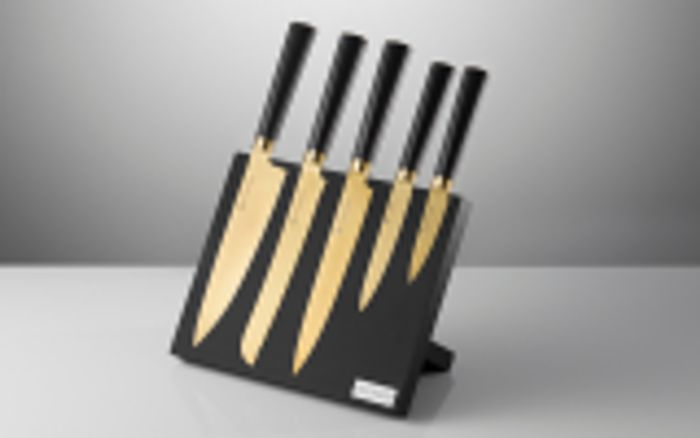 Win 1 of 4 Titan Gold Knife Blocks from Viners worth over £80 Each