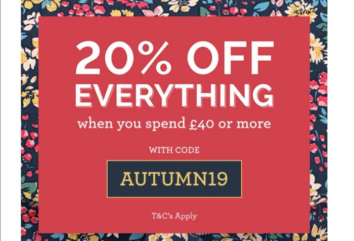 20% off Orders at Cath Kidston