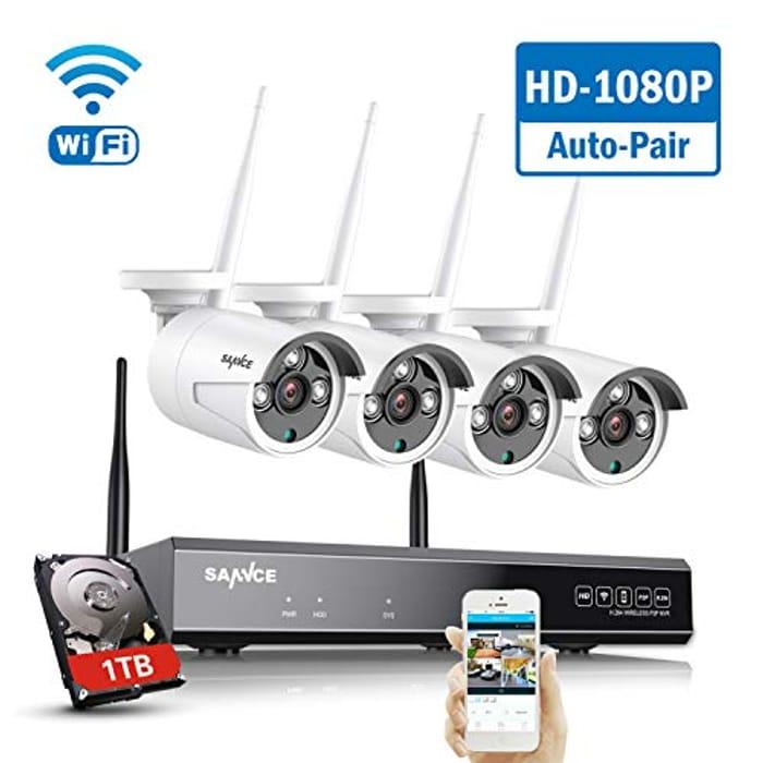 SANNCE Wireless Security System 8CH 1080P CCTV NVR