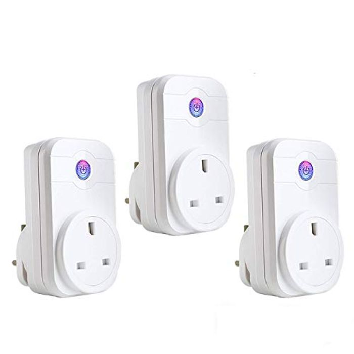 3 X Smart Plug WiFi Compatible with Amazon Echo Dot, Google Home and IFTTT