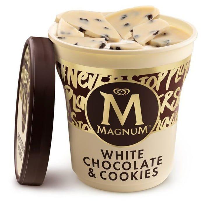 Magnum White Chocolate & Cookies Ice Cream