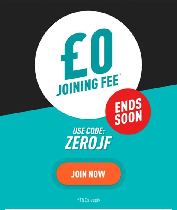 Get £0 Joining Fee at Pure Gym - Use Code: ZEROJF