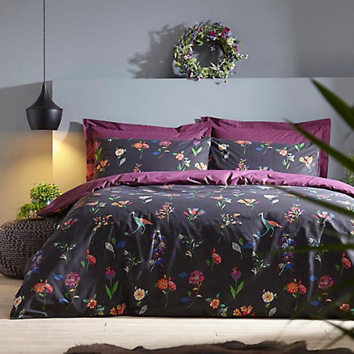 Folklore Printed Cotton Percale Duvet Cover & Standard Pillowcase Set