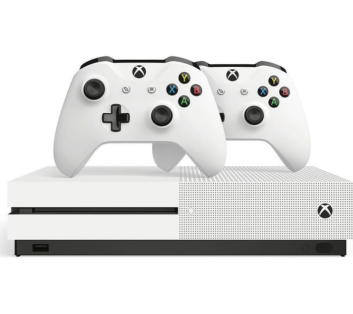 Microsoft Xbox One S Console, 1TB, with X2 Wireless Controllers Bundle