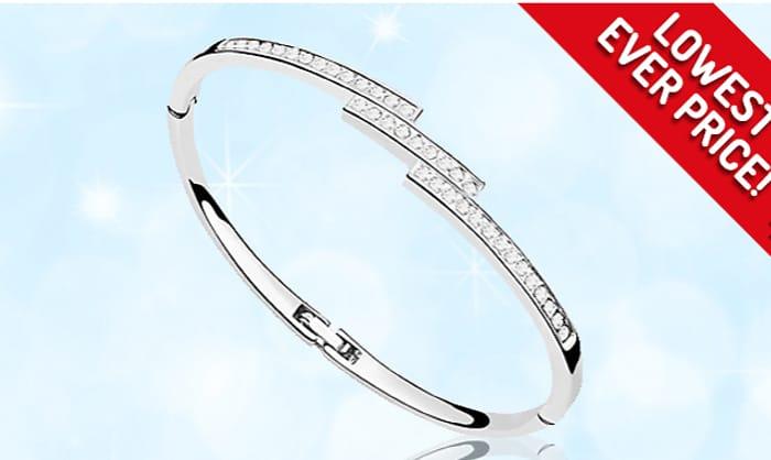 Swarovski Elements Triple Crystal Row Bracelet - 1 or 2 for £4.99 ...