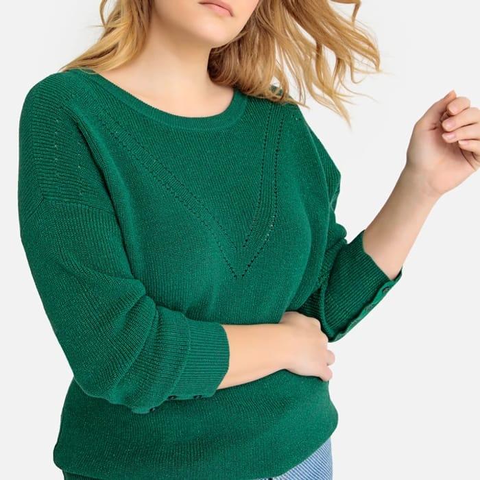 CASTALUNA plus SIZE Cotton Chunky Knit Jumper