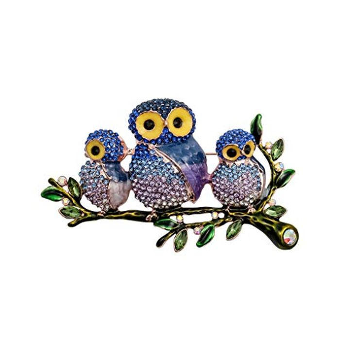 Owl Rhinestone Pin Brooch Only £1.06 Delivered