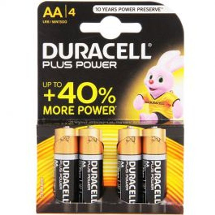 Duracell AA plus Power 4 Pack