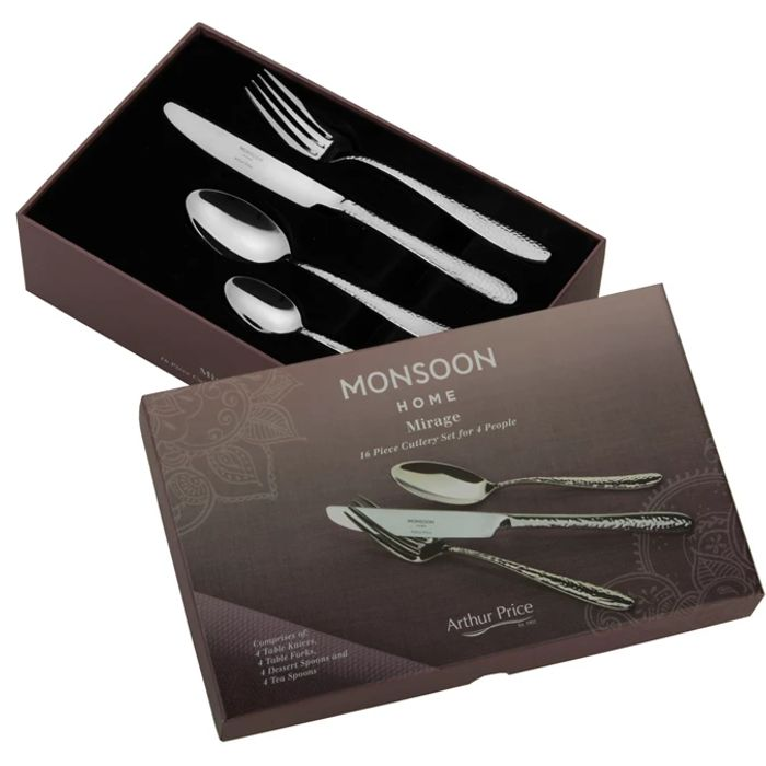 Cheap stainless steel cutlery set 16 piece - Save £39.5!